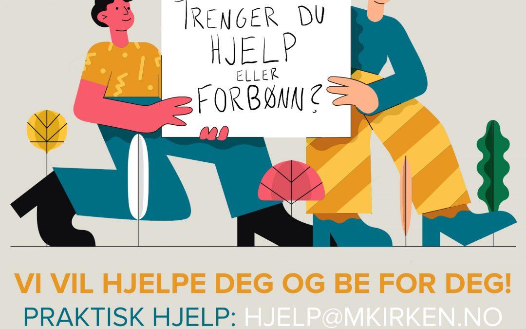 Trenger du hjelp eller forbønn?